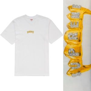 🔥 Supreme fronts gold grill ss19 large NWT box